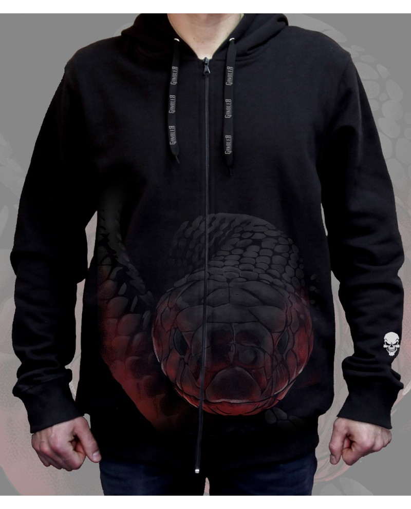 Bluza Nadruk przód/tył Gambler Wear Czarny 1
