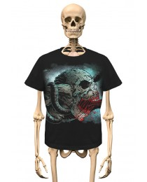 T-Shirt Skull Long Tounge Gambler Wear