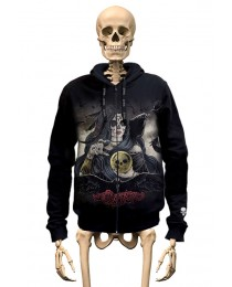 Hoodie Skull Bullet Gambler Wear