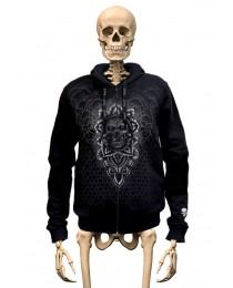 Hoodie Ornamental Skull Gambler Wear