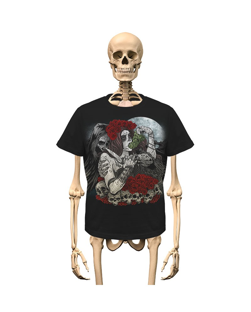 T-Shirt Zadruk przód/tył Gambler Wear Czarny