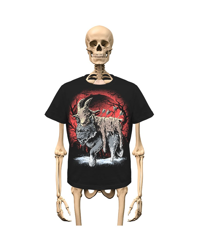 T-Shirt Nadruk przód/tył Gambler Wear Czarny