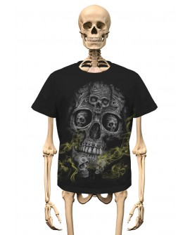 T-Shirt Smoke Skull Gambler Wear